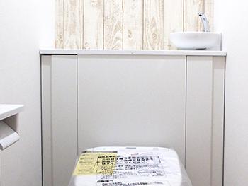 背面収納のお洒落なトイレに生まれ変わりました!